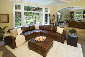 Brown Leather Sectional Sofas by Rustic Leather Sectional Sofas Tehranmix Decoration