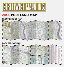 Portland Light Rail Map by Streetwise Portland Map Laminated City Center Street Map Of