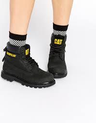 womens caterpillar boots uk caterpillar colorado black leather ankle boots best wardrobe