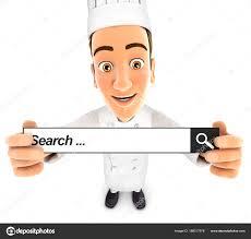 recherche chef de cuisine chef de cuisine 3d tenant une barre de recherche photographie