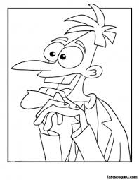 dr doofenshmirtz phineas ferb coloring pages printable