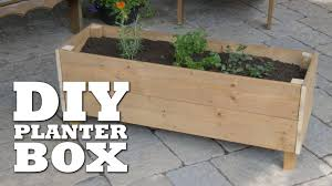 Garden Bench With Planters How To Build A Planter Box Youtube