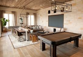 reclaimed wood game table tv room ideas country media room tracy hardenburg designs