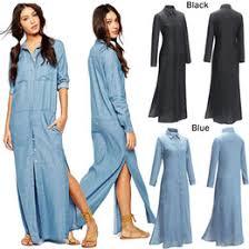 women u0027s denim maxi dress u2013 dress blog edin