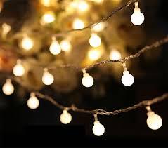 luminaria 50 led cherry balls string decorative lights battery