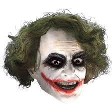 amazon com joker mask with hair costume accessory clothing