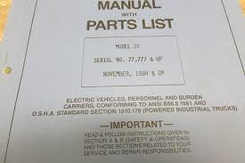 taylor dunn 2534ss ss 025 34 parts maintenance operation manual