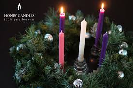 beeswax advent candles