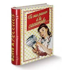 livre cuisine original boite à recettes de cuisine forme livre casserole en métal