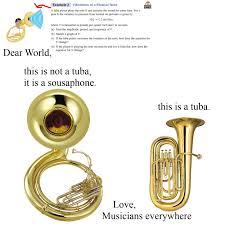 Tuba Memes - tuba vs sousaphone imgur