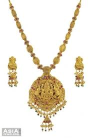 gold small necklace designs images 22k designer temple jewelry ajns54385 22k gold antique finish jpg