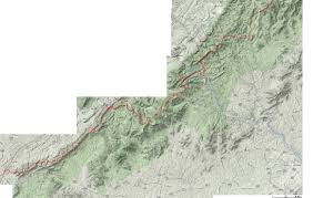 Appalachian Trail Virginia Map by Appalachian Trail Info
