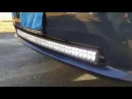 ram 1500 light bar bumper dodge ram sport 42 inch led light bar install youtube