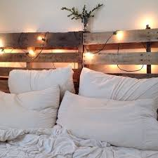 How To Make A Platform Bed With Pallets by Best 25 Headboard Lights Ideas On Pinterest Rustic Wood