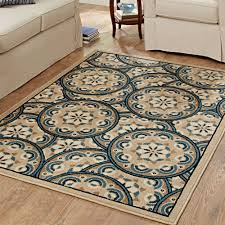 better homes and gardens blue tokens driftwood area rug and runner