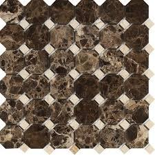 emperador barcelona octagon mosaic with c marfil dots