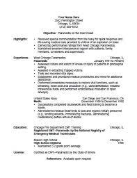 printable resume exles surprising emt resume exles picturesque paramedic template free