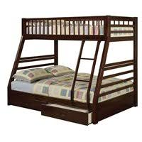 acme furniture jason xl twin over queen bunk bed in espresso 37425