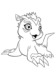 best anime digimon coloring pages for kids womanmate com