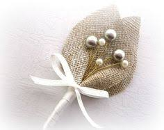 burlap boutonniere country burlap boutonniere groom and groomsmen boutonniere