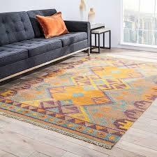 Area Rug 4 X 6 Meryem Handmade Geometric Multicolor Area Rug 4 X 6 Free