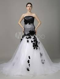 brautkleid mermaid schwarzes brautkleid mermaid stil mit blumen best für hochzeit