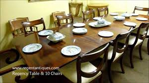 03181b antique regency mahogany dining table u0026 10 chairs youtube