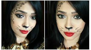 cheetah face makeup for halloween last minute halloween tutorial easy leopard face makeup youtube