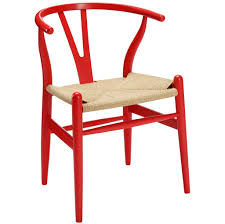 Red Dining Chairs Wegner Wishbone Style Weave Chair Ch24 Y U2013 Poly Bark