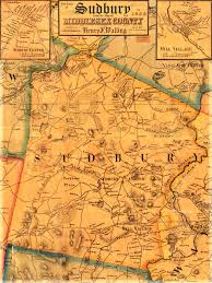 Show Me A Map Of Massachusetts by Historical Maps Of Sudbury