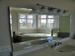 bathroom light up your home with frameless beveled mirror with