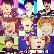 Exo Memes - days of the week exo meme