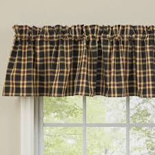 country straight valance curtains cambridge plaid pattern 72