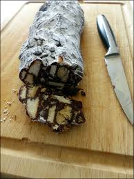 blogs recettes cuisine trompe l oeil saucisson au chocolat a la table de gaelle