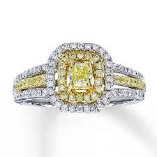 two tone gold engagement rings jared engagement ring 3 4 carat tw 14k two tone gold