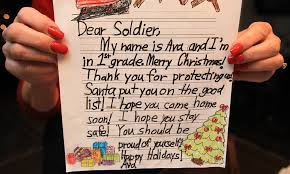 to soldier with letter writing caign nets 25 000