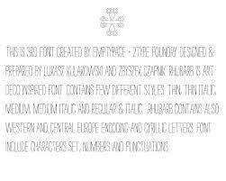 rhubarb free font on behance