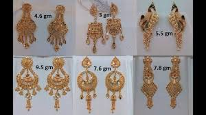 bengali earrings gold earrings kolkata designs gold earrings weight less