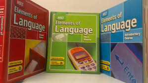 buy 3 volumes of holt elements of language student textbooks