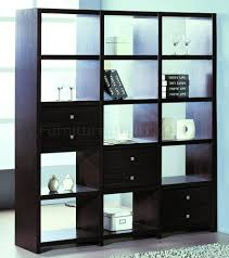 shelf unit room divider w additional drawers
