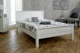 nina white solid wood bed frame 5ft king size the oak bed store