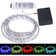 dsi indoor outdoor led flexible lighting strip amazon com aijiaer battery powered led strip lights 5050 2m 6 6ft
