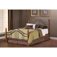 hillsdale furniture madison textured black queen bed frame 1010bqr