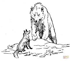 bear wolf coloring free printable coloring pages