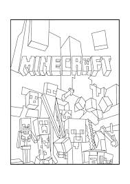 minecraft coloring pages free printable
