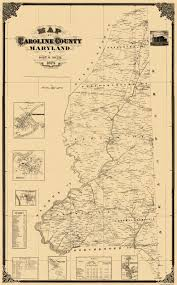Mdc Map Old County Map Caroline Maryland Landowner 1875