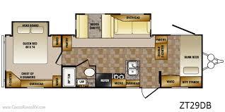 crossroads cruiser fifth wheel floor plans crossroads zinger rv bunkhouse cer 29db all about cers