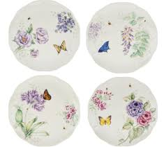 lenox butterfly meadow 12pc porcelain dinnerware set page 1