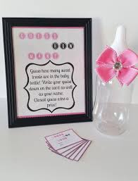 baby shower guessing guess how many baby shower m m pink sign