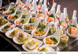 canapes finger food canapes on toothpicks appetizer pinchos stock photo